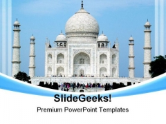 Taj Mahal India Beauty PowerPoint Themes And PowerPoint Slides 0311