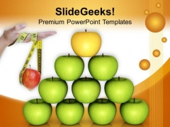 Take A Balance Diet Health PowerPoint Templates Ppt Backgrounds For Slides 0413