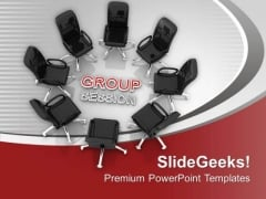 Take A Group Session For Business Result PowerPoint Templates Ppt Backgrounds For Slides 0613
