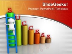 Take A Shortest Path Of Business Growth PowerPoint Templates Ppt Backgrounds For Slides 0713