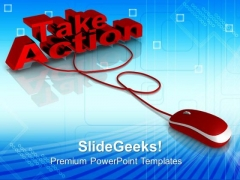 Take Action Fast Mouse PowerPoint Templates And PowerPoint Themes 0812