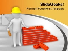 Take Precaution In Visiting Construction Site PowerPoint Templates Ppt Backgrounds For Slides 0713