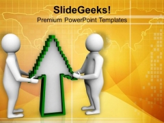 Take The Right Upward Direction For Growth PowerPoint Templates Ppt Backgrounds For Slides 0713