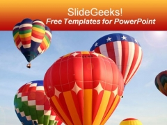 Beautiful Air Balloon PowerPoint Template