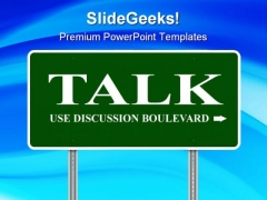 Talk Metaphor PowerPoint Themes And PowerPoint Slides 0911