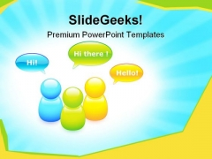 Talking Buddies Internet PowerPoint Themes And PowerPoint Slides 0911