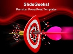 Target Achieved Business PowerPoint Template 0810