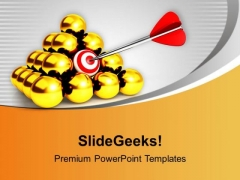 Target Achieved Business Theme PowerPoint Templates Ppt Backgrounds For Slides 0413