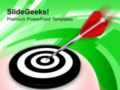 Target Achievement In One Shot PowerPoint Templates Ppt Backgrounds For Slides 0413