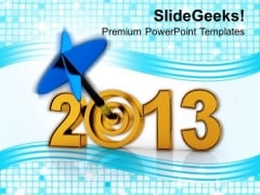 Target Achievement In Year 2013 PowerPoint Templates Ppt Backgrounds For Slides 0413
