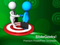 Target Based Meetings Are Good For Business PowerPoint Templates Ppt Backgrounds For Slides 0613