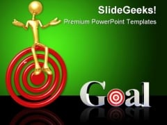 Target Goal Business PowerPoint Themes And PowerPoint Slides 0611