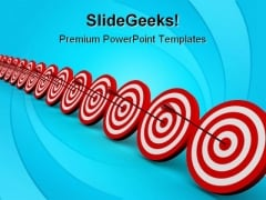 Target Row Business PowerPoint Templates And PowerPoint Backgrounds 0911