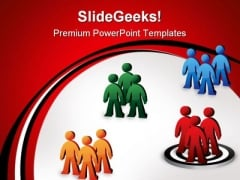 Target Team Leadership PowerPoint Templates And PowerPoint Backgrounds 1211