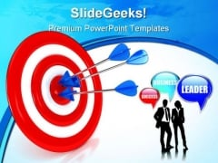 Target With Arrows Business PowerPoint Backgrounds And Templates 1210