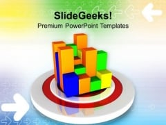 Target With Business Graph Strategy PowerPoint Templates Ppt Backgrounds For Slides 0213