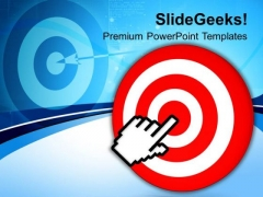 Target With Computer Cursor Technology PowerPoint Templates Ppt Backgrounds For Slides 0113