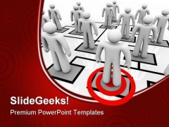 Targeted Employee Business PowerPoint Templates And PowerPoint Backgrounds 0611