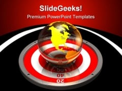 Targeting The World Business PowerPoint Themes And PowerPoint Slides 0511