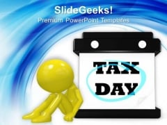 Tax Day Hanging Wall Calendar People PowerPoint Templates And PowerPoint Themes 1112