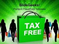 Tax Free Shopping Bag Festival PowerPoint Templates Ppt Background For Slides 1112