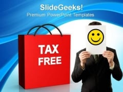 Tax Free Shopping Lifestyle PowerPoint Templates And PowerPoint Themes 0812