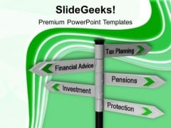 Tax Planning Finance Signpost Business PowerPoint Templates And PowerPoint Themes 1112