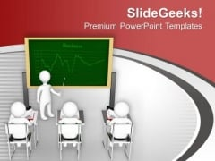 Teacher With Students Education Theme PowerPoint Templates Ppt Backgrounds For Slides 0613