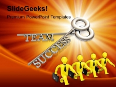 Team And Success Key Business PowerPoint Templates Ppt Backgrounds For Slides 1112