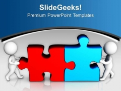 Team Arrange The Parts Of Puzzles Business PowerPoint Templates Ppt Backgrounds For Slides 0513