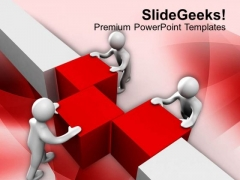 Team Assemble Cubes Business Partnership PowerPoint Templates Ppt Backgrounds For Slides 0413