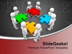Team Can Easily Fix Your Business Issues PowerPoint Templates Ppt Backgrounds For Slides 0713