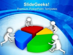 Team Completes The Task Marketing PowerPoint Templates Ppt Backgrounds For Slides 0713