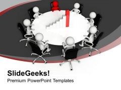 Team Discuss Bar Graph For Business Result PowerPoint Templates Ppt Backgrounds For Slides 0613