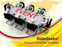 Team Discussing For Business Events PowerPoint Templates Ppt Backgrounds For Slides 0413