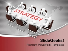Team Discussion On Business Strategy PowerPoint Templates Ppt Backgrounds For Slides 0413
