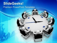 Team Discussion On Time Management PowerPoint Templates Ppt Backgrounds For Slides 0713