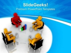 Team Discussion On Upliftment Of Business PowerPoint Templates Ppt Backgrounds For Slides 0713
