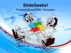 Team Discussion To Find Solution PowerPoint Templates Ppt Backgrounds For Slides 0613