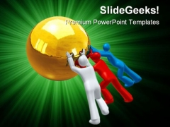 Team Effort Leadership PowerPoint Templates And PowerPoint Backgrounds 0811