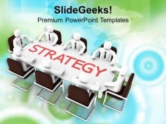 Team Effort To Make Strategy PowerPoint Templates Ppt Backgrounds For Slides 0413