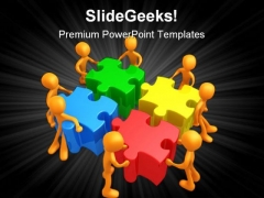 Team Efforts Business PowerPoint Themes And PowerPoint Slides 0811