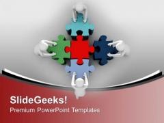 Team Efforts Teamwork PowerPoint Templates Ppt Background For Slides 1112