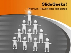 Team Efforts To Build Pyramid Business PowerPoint Templates Ppt Backgrounds For Slides 0313
