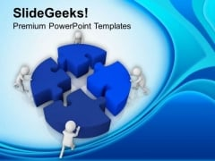 Team Efforts To Complete The Task PowerPoint Templates Ppt Backgrounds For Slides 0713