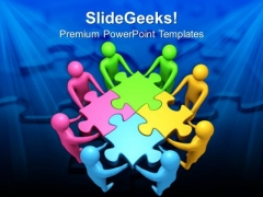 Team Efforts To Form Puzzle Business PowerPoint Templates Ppt Backgrounds For Slides 0113