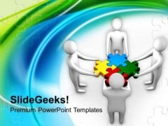 Team Efforts To Form Solution Business PowerPoint Templates Ppt Backgrounds For Slides 0213