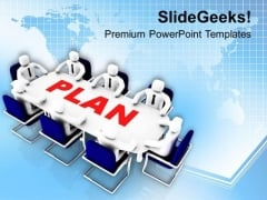 Team Efforts To Make Business Plan PowerPoint Templates Ppt Backgrounds For Slides 0413
