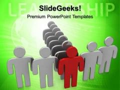 Team Follows Leader Leadership PowerPoint Templates And PowerPoint Themes 0612