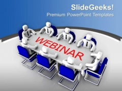 Team Joining The Webinar PowerPoint Templates Ppt Backgrounds For Slides 0713